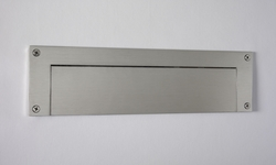 "Satin Brushed Stainless Steel Contemporary Door Mail Slot (small) 11.8"" x 3"""