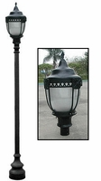 Sawgrass Style LED Street Light and Post Package