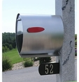 Spira Stainless Steel Unique Post Mount Mailbox