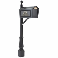 Standard Chalet Mailbox Package - Black