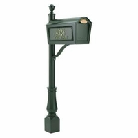 Standard Chalet Mailbox Package - Green