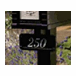 Standard Post Address Plaque w/up to six vinyl characters and mounting bolts (Choose Color)