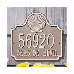 Standard Size Conch Plaque - (1 or 2 lines)