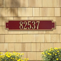 Standard Size Windsor Horizontal Wall Plaque  - (1 Line)