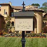 Stucco Wall or Post Mount Mailbox