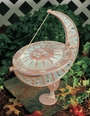 Sun and Moon Sundial - Copper Verdi