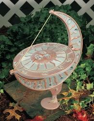Sun and Moon Sundial - Oil Rub Bronze