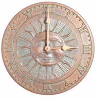 Sunface Clock - Copper Verdi