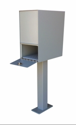 Super Aluminum Rear Access Letter Locker