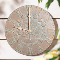 Times & Seasons Clock - Copper Verdi