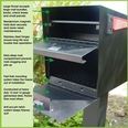 Black  Ultimate High Security Locking Quadruple Mailbox & Post Package