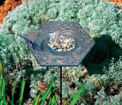 Verdigris Butterfly Garden Bird Feeder