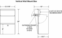 Vertical Wall Mount Letter Locker