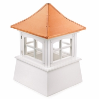 "Vinyl Windsor Cupolas - 18"" Sq. X 24"" H"