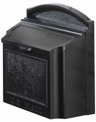 Wall Mailbox Removable Locking Insert - Black