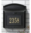 Custom Wall Mount Mailbox with Removable Locking Insert - Black