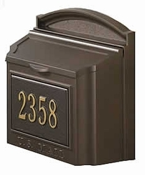 Custom Wall Mount Mailbox with Removable Locking Insert - Bronze