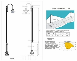 Waterbury Style LED Street Light  and Post Package