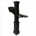 Westbrook Plus Mailbox Post Black