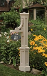 Woodhaven Sign Post in Clay (post only - address plaques sold separately)