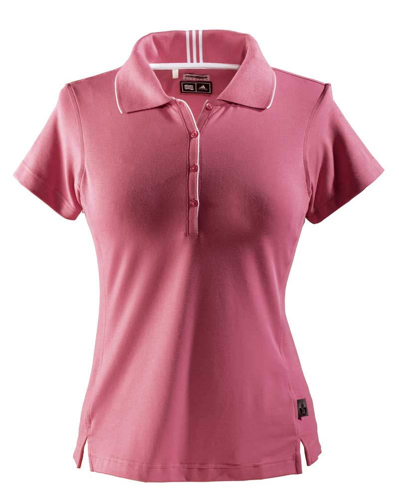 Adidas Women's ClimaLite Interlock Golf Polo Shirt