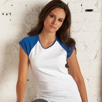 Bella Women's Cap-Sleeve Raglan T-Shirt