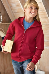 Girls / Boys Full-Zip Hooded Fleece Jacket with Pockets