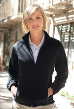 Harriton Women's Full Zip Fleece Jacket  with Pockets