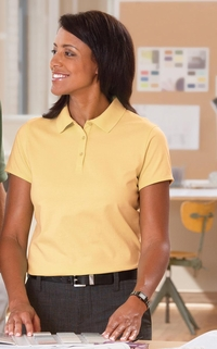 Ladies 100% Combed Cotton Jersey Polo Shirt