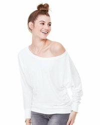 Ladies Flowy Long-Sleeve Off Shoulder T-Shirt (Item 8850-L)