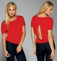 Ladies Flowy Open Back T-Shirt (Item B8871-T)