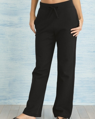 Ladies Open-Bottom Sweatpants with Pockets