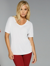 Ladies Relaxed Fit Scoop Neck T-Shirt