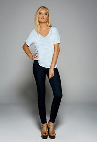 Ladies Relaxed Fit V-Neck T-Shirt