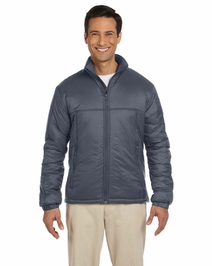 Men's 100% Nylon Polyfill Jacket with Inside Storm Flap