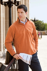Men's Microfleece Zip Pullover Sweatshirt (Item CH910-R)