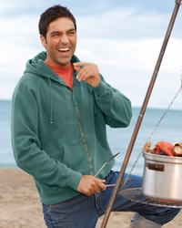Men's Pigment-Dyed Full-Zip Hooded Sweatshirt
