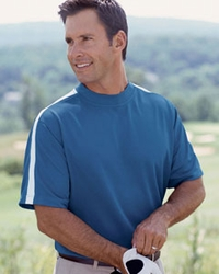 Men's Golf Short Sleeve 100% Polyester Mock Neck Shirt - Best Seller