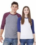 Men's / Women's Triblend 3/4-Sleeve Baseball T-Shirt