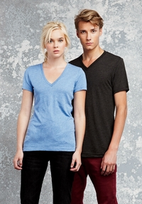 Canvas Men's / Women's Triblend V-Neck Tee