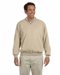 Men's Golf V-Neck Microfiber Windbreaker Jacket