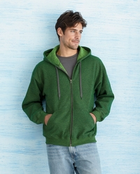 Men's Vintage Full-Zip Heavy Blend Hoodie with Pockets