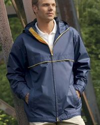 Men's Water and Wind Resistant Hooded Rain Jacket  (HS705)