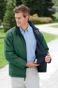 Men's Wind and Water Resistant Reversible Jacket