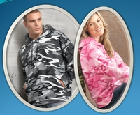 Men's - Women's Camouflage Pullover Hoodie with Pocket