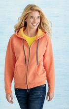 Ladies Vintage Classic Missy Fit Full-Zip Hoodie with Pockets