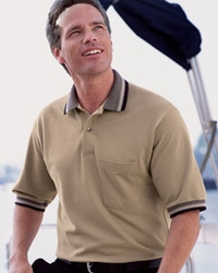 Outer Banks Men's Tipped Pique Polo with Pocket (Item 5032)