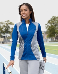 Russell Athletic Ladies Fleece Full-Zip Cadet Jacket