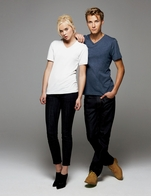 Unisex 100% Combed Ringspun Cotton V-Neck Tee