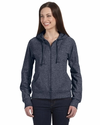 Women's 100% Cotton Fleece Full Zip Raglan Hoodie